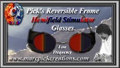 Pick's Reversible Frame Hemifield Sedator Glasses-Low Freq.