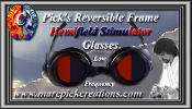 Pick's Deluxe Reversible Frame Hemifield Sedator Glasses-Low Frq