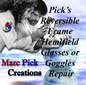 Repair for Pick's Reversible Frame Hemifield Glasses or Goggles.